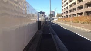 ジークレフジオ神戸本山の北側の道路の様子