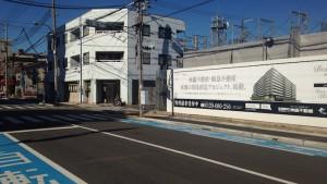 ジークレフジオ神戸本山の南側の道路の様子