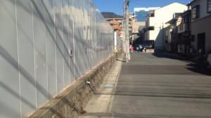ジークレフジオ神戸本山の現地東側の道路の様子