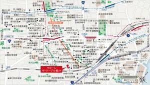 ワコーレ ザ・リーブル神戸の地図
