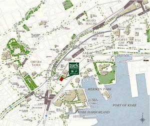 パークホームズ神戸ザレジデンス 地図
