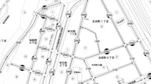 新神戸周辺の路線価(引用:国税庁)