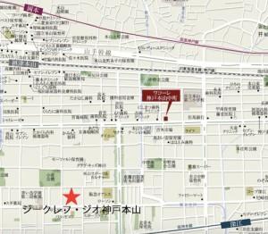 ワコーレ神戸本山中町_地図