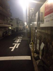 ヴィークコート神戸山本通南側_平日19時ごろの様子