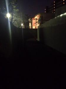 ヴィークコート神戸山本通北側_平日19時ごろの様子
