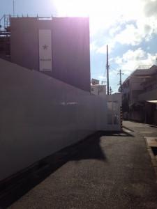ヴィークコート神戸山本通北側を撮影(2016年3月 15時ごろ)
