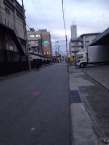 リッツ御影前の道路