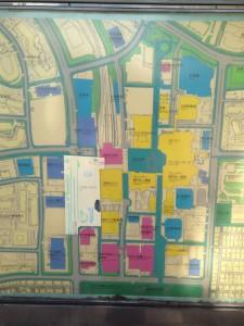 駅周辺マップ。「ジオ西神中央」現地は前のさくら銀行まま。