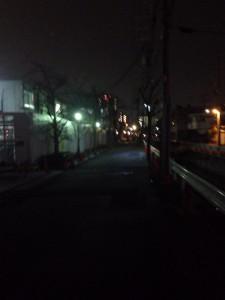 夜のプレミスト西宮北口ザ・レジデンス現地周辺