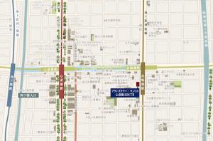ブランズタワー・ウェリス心斎橋SOUTH周辺地図(引用:公式HP)