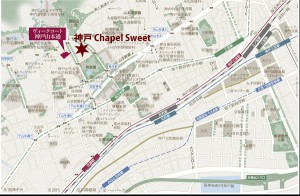 ヴィークコート神戸山本通地図(引用: 公式HP/文字の追記:当サイト)