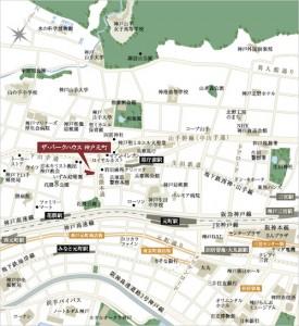 ザ・パークハウス 神戸元町_地図(引用:公式HP)