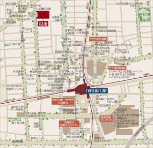 プレミスト西宮北口ザ・レジデンス地図(引用:公式HP)
