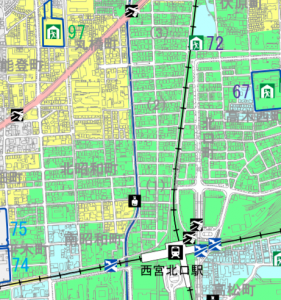 洪水・土砂ハザードマップ(引用:西宮市HP)