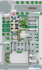 パークホームズ神戸ザレジデンス_敷地配置図(引用:公式ホームページ)