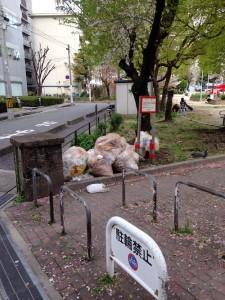 豊崎西公園のゴミ