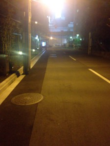 プラネスーペリア梅田北ブライトコンフォートの南側道路