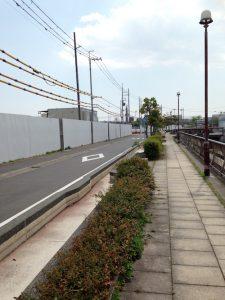 ファインシティ甲子園前の道路