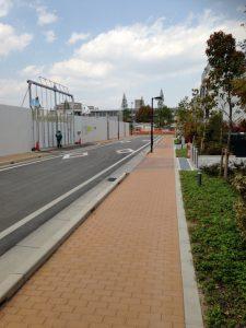 ファインシティ甲子園東側道路