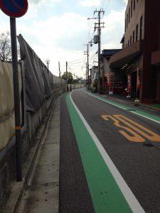 甲子園球場横の生活道路