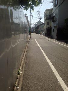 「リバーガーデン福島」北側