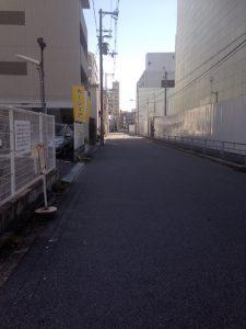 「リバーガーデン福島」東側