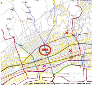 神戸市灘区のハザードマップ(元データ:兵庫県警察)
