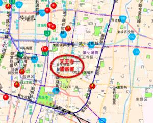 大阪市天王寺区のハザードマップ(元データ:大阪府警察犯罪発生マップ)