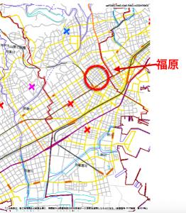 神戸福原のハザードマップ