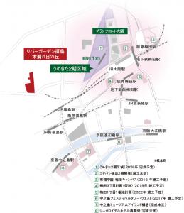 「リバーガーデン福島」広域地図(引用:公式HP)