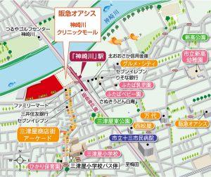 シティテラス神崎川駅前周辺地図(引用:公式HP)