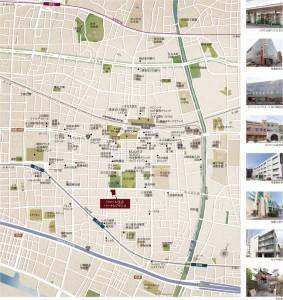 ワコーレ住吉パークレジデンス地図(引用:公式HP)
