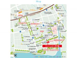 ファインシティ甲子園周辺地図(引用:公式HP)