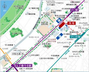 ローレルスクエア守口現地周辺地図(引用:公式HP)