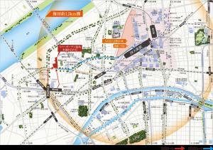 「リバーガーデン福島」周辺地図(引用:公式HP)