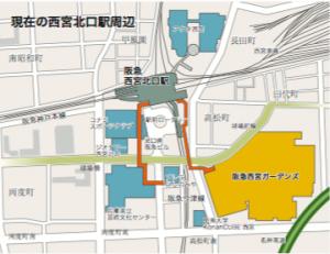 西宮北口駅周辺(引用:日本民営鉄道協会)