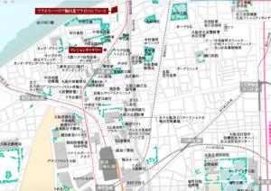 プラネスーペリア梅田北ブライトコンフォート周辺地図(引用:公式HP)