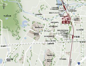 プラネスーペリア西宮仁川_現地周辺地図(引用:公式HP)