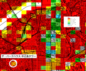 液状化予測マップ(引用:大阪府液状化可能性)