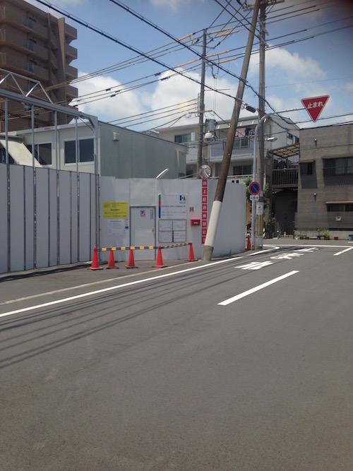 マンションの東側(関西スーパーがある方面)