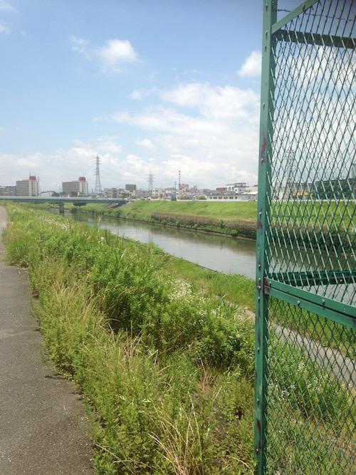 マンション周辺の神崎川