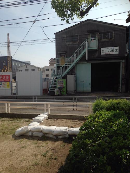 姫島浜公園からマンション方面を撮影