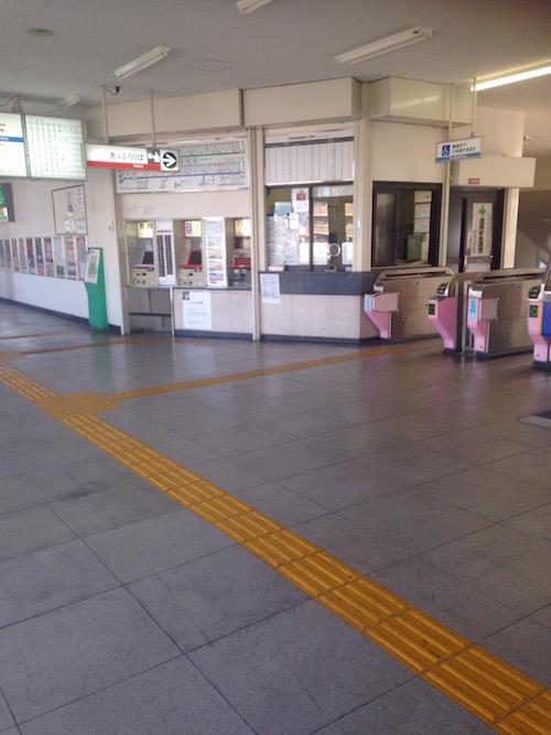 南海「白鷺」駅改札