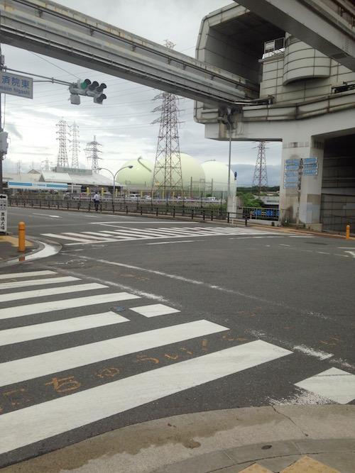 大阪ガス 千里供給所のガスタンク