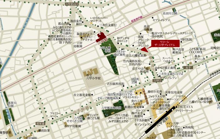 ワコーレ ザ・六甲プレミアム周辺地図(引用:公式HP)