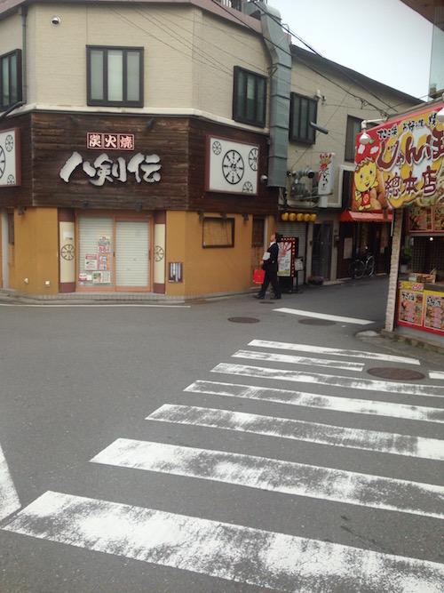 阪急正雀駅前の様子
