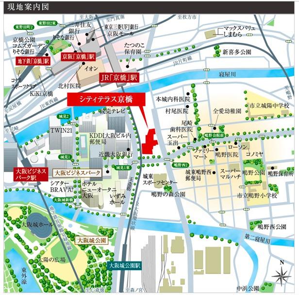「シティテラス京橋」周辺地図(引用:公式HP)