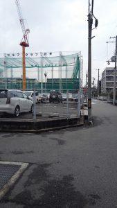 南側の駐車場