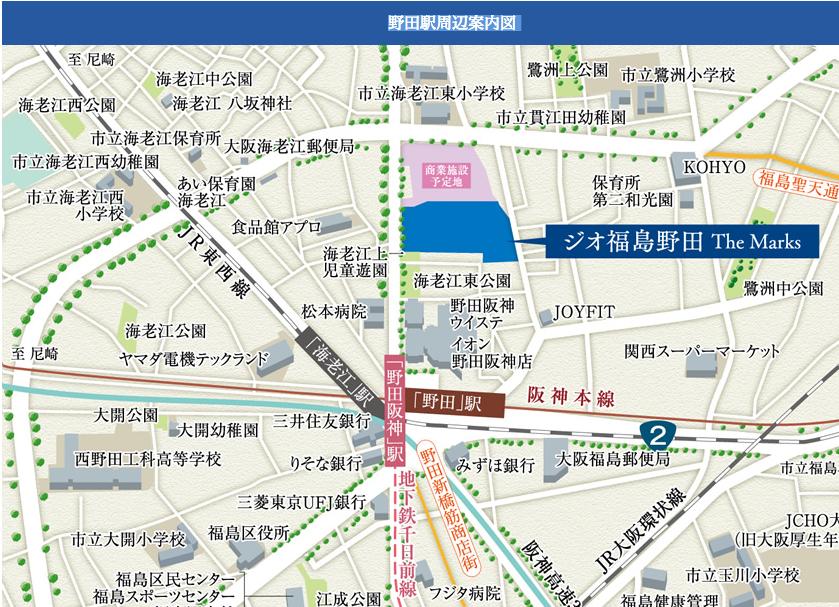 ジオ福島野田地図